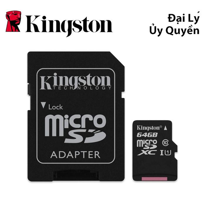 Thẻ nhớ MicroSDHC SDC10G2/64GBFR Kingston 64GB C10 80MB/s + ADAPTER - HÃNG PHÂN PHỐI CHÍNH THỨC - 3515659 , 962234816 , 322_962234816 , 469000 , The-nho-MicroSDHC-SDC10G2-64GBFR-Kingston-64GB-C10-80MB-s-ADAPTER-HANG-PHAN-PHOI-CHINH-THUC-322_962234816 , shopee.vn , Thẻ nhớ MicroSDHC SDC10G2/64GBFR Kingston 64GB C10 80MB/s + ADAPTER - HÃNG PHÂN PHỐ