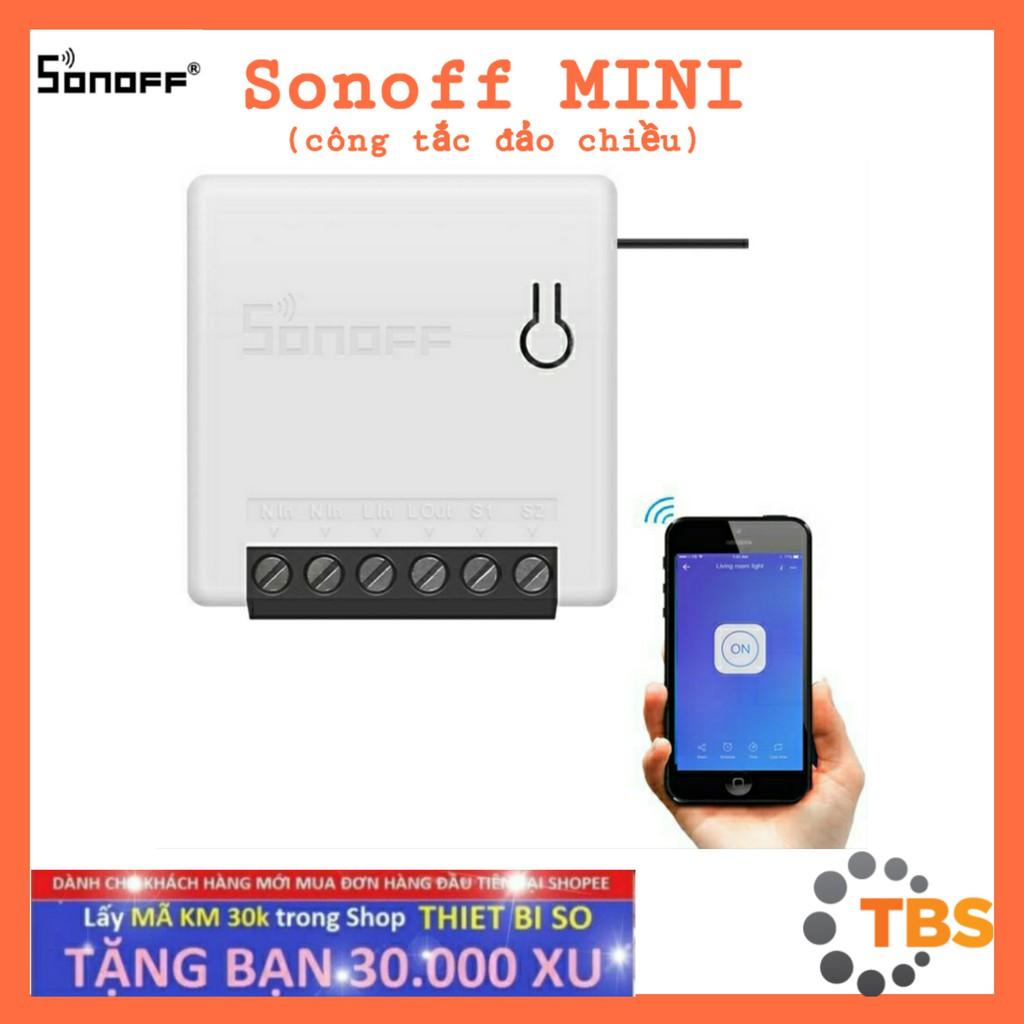 SONOFF MINI, công tắc Wifi, công tắc điều khiển đảo chiều thông minh