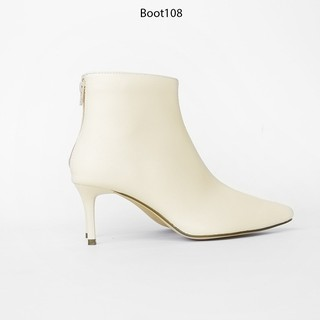 Boot Cổ Cao Gót Nhọn Da PU 7cm Evashoes - Boot108 thumbnail