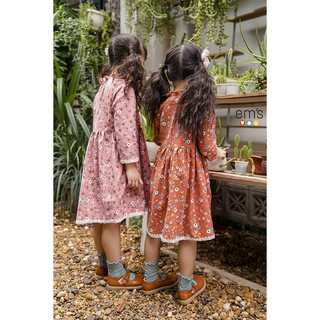 Váy Hoa Nhí Cà Bông Vintage  bé gái EM'S