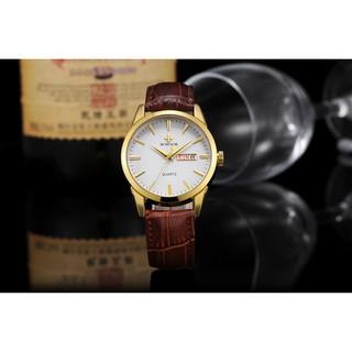 WWOOR Top Brand Luxury watch for men analog calendar watch waterproof quartz fashion leather watches 8801