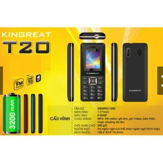 Điện thoại pin trâu Kingreat T20 – 2 SIM 2 SÓNG – Hàng chính hãng BẢO HÀNH 12 THÁNG