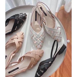 FREE SHIP Giày cao gót Sandal cao gót nữ 2p quai đan dễ mang , dễ phối đồ thumbnail