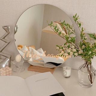[RẺ VÔ ĐỊCH + CÓ CLIP] Gương bàn trang điểm có đế gỗ Gương trang trí Gương décor Gương tròn