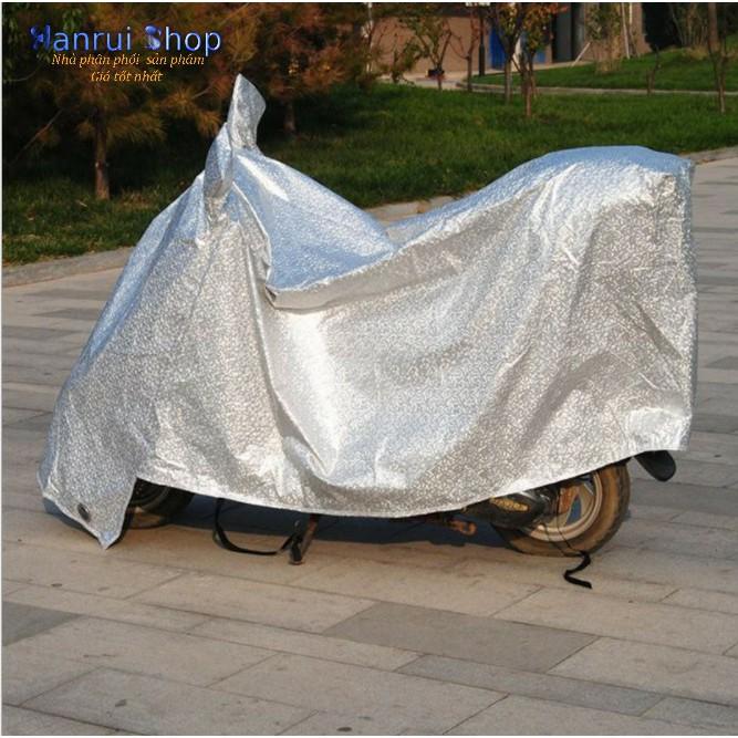 Áo trùm xe máy phủ nhôm bạc chống nóng cao cấp