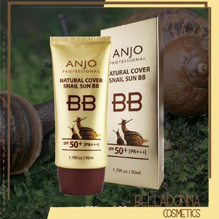 Kem Nền Anjo Natural Cover Snail Sun BB SPF50+ PA+++ 50ml