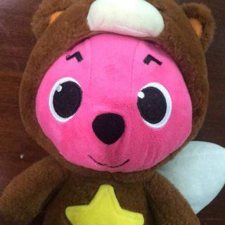 Pinkfong cosplay gấu nâu tem pinkfong