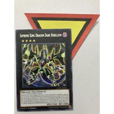 Supreme King Dragon Dark Rebellion-rare-1st edition- bài yughioh chính hãng