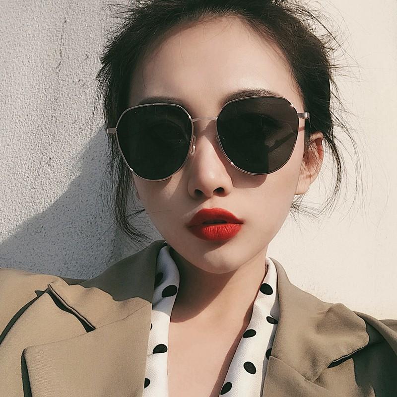 Han Guochao web celebrity sunglasses female round square shape polarized street snap uv sun glasses for men