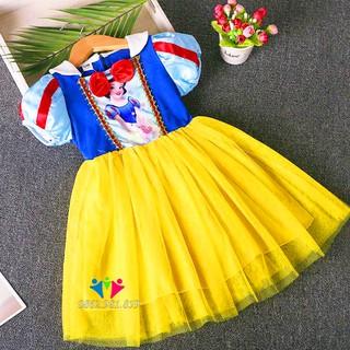 Váy Bạch Tuyết - Váy Đầm Công Chúa Bạch Tuyết Bé Gái