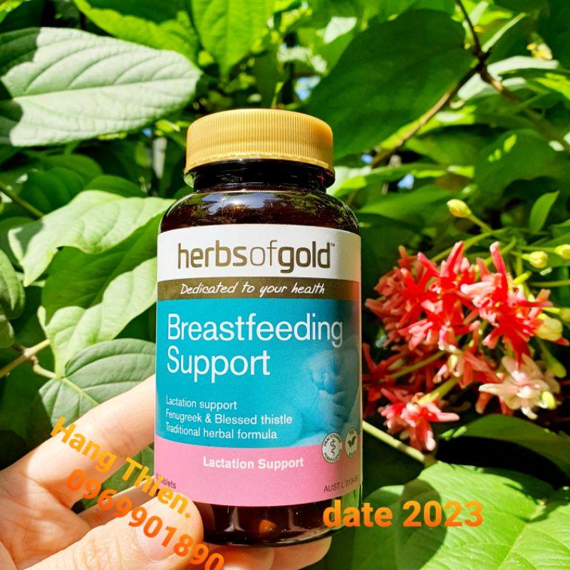 (Đủ bill) Lợi Sữa Herb Of Gold Breastfeeding support 60v