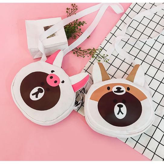 Túi đeo chéo gấu Brown cute - 3602640 , 1117506573 , 322_1117506573 , 130000 , Tui-deo-cheo-gau-Brown-cute-322_1117506573 , shopee.vn , Túi đeo chéo gấu Brown cute