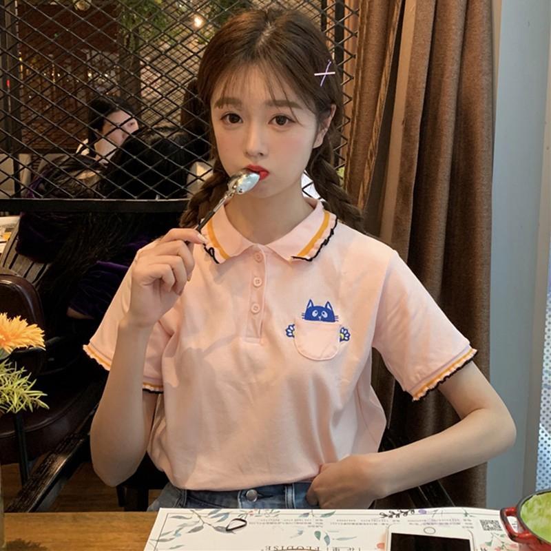 áo thun nữ ngắn tay phong cách nhật bản
