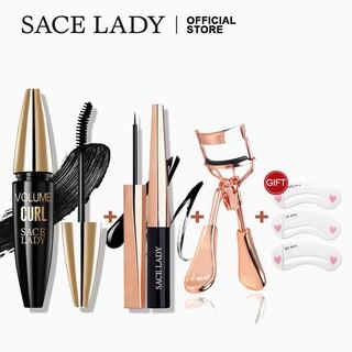 Set Mỹ Phẩm Trang Điểm Mắt SACE LADY Gồm Mascara + Bút Kẻ Mắt + Dụng Cụ Bấm Mi Chuyên Dụng 80g thumbnail
