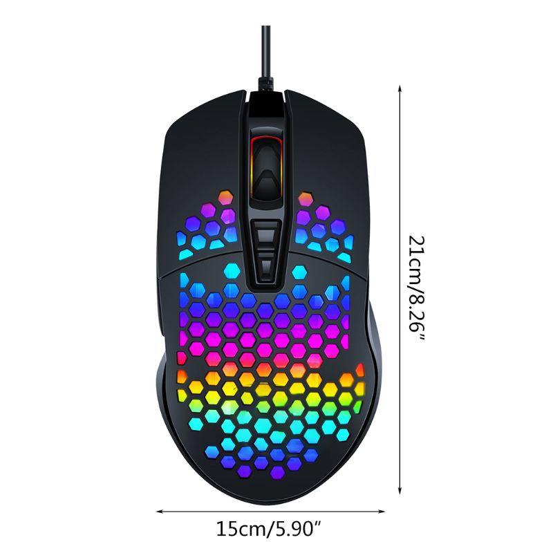 Chuột Gaming Kok Có Dây Với Đèn Led Nhiều Màu