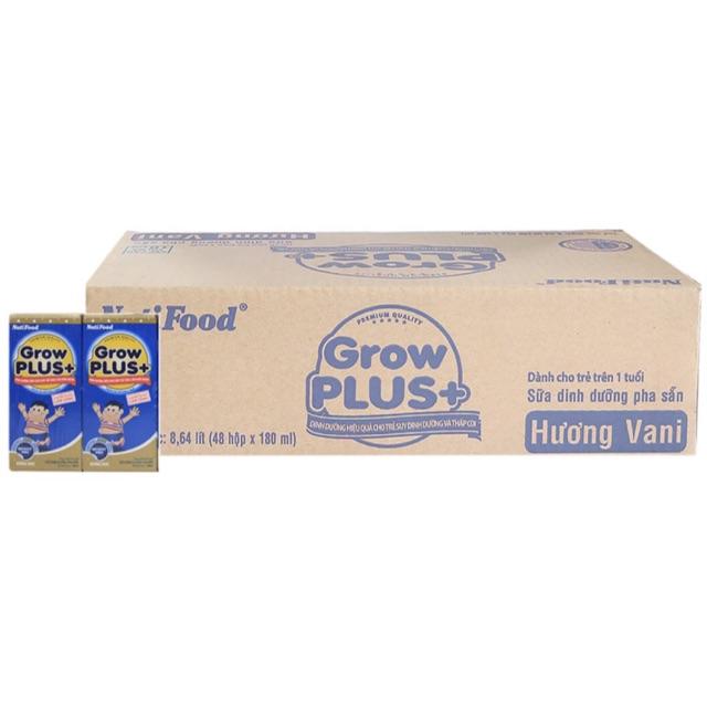 Thùng 48 Hộp Sữa bột pha sẵn Grow Plus+ 180ml