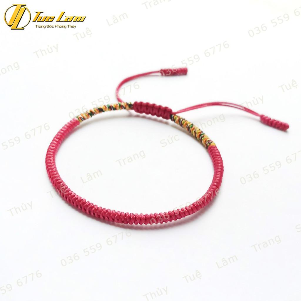[DIY bracelets] Vòng Tay Set 3 vòng chỉ tibets Tây Tạng Màu Xám Hồng Xanh