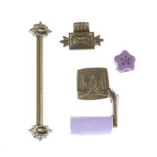 1/12 Scale Dollhouse Miniature Bathroom Accessory Set