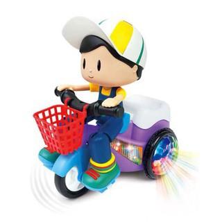 Đồ chơi em bé đi xe đạp xoay 360 độ có đèn và nhạc