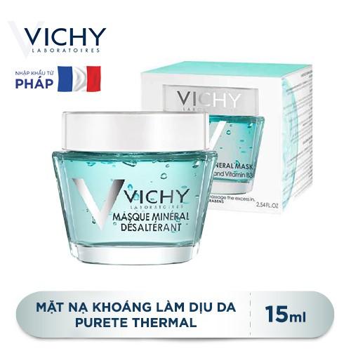 Mặt nạ khoáng chất làm dịu và tươi mát làn da Vichy Quenching Mineral Mask 15ml _ 3337875508926