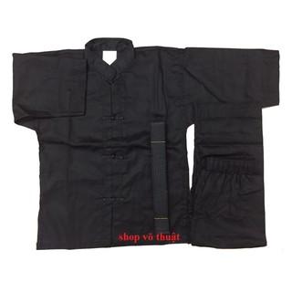 Quần áo võ phục Võ cổ truyền khuy tàu vải KAKI DÀY