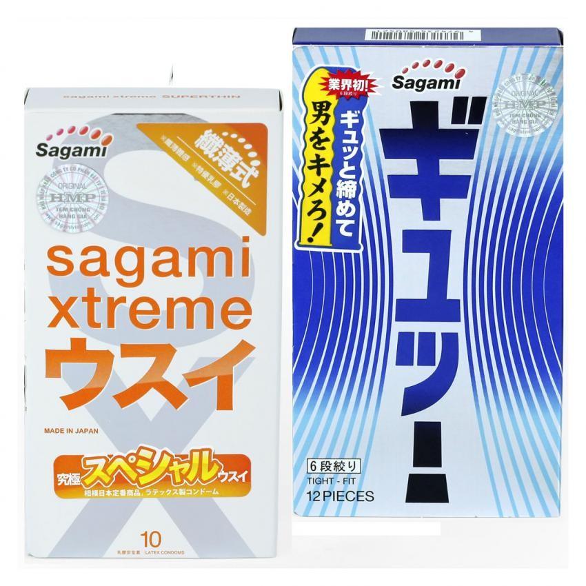 Bộ Bao cao su Sagami Tight Fit và Sagami Xtreme Super Thin