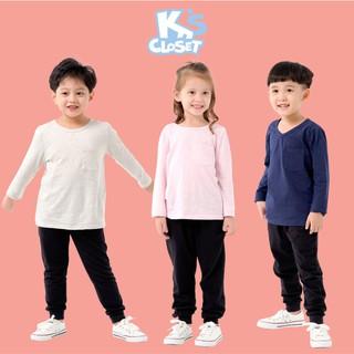 Áo Dài Tay Cho Bé Trai Và Bé Gái (1-9 Tuổi) K's Closet E003TEF / E016TEF TM