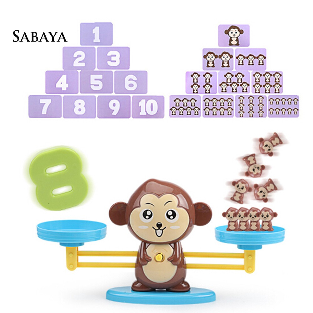 ♝♝♝Cartoon Animal Number Balancing Scale Math Game Toddler Early Educational Toy