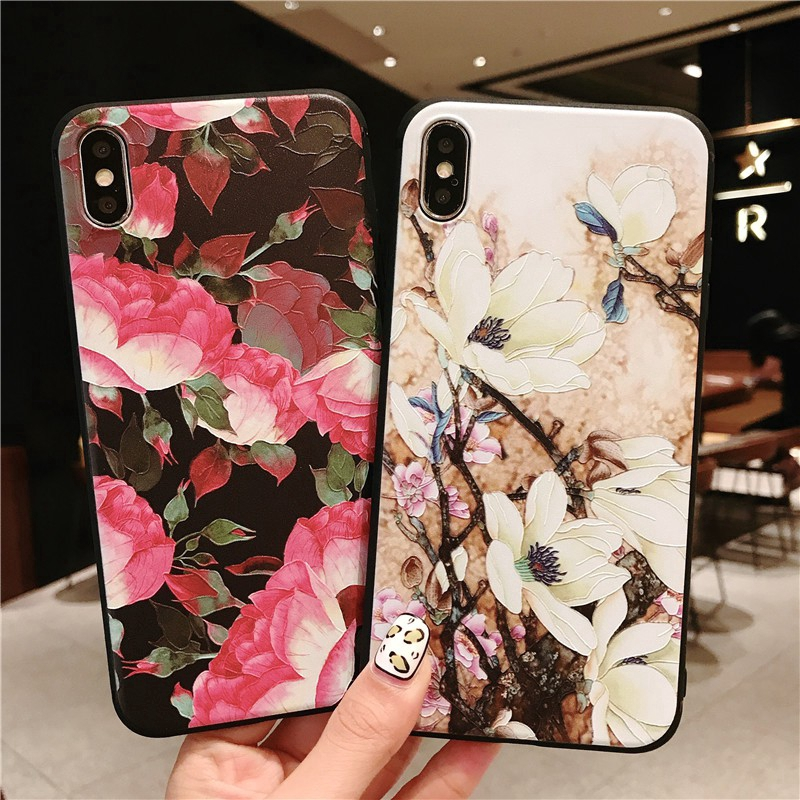 OPPO R15 Pro R11 R11S R9 R9S plus Retro Flower case soft casing protective shell cases