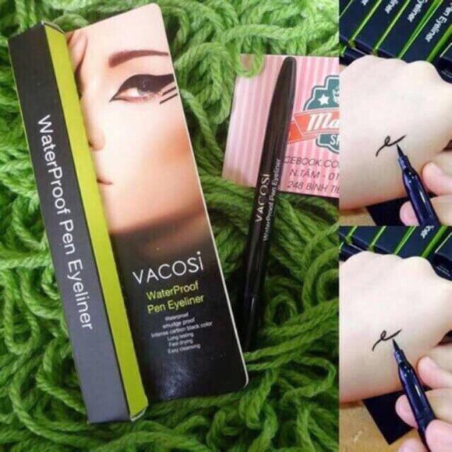 Bút kẻ mắt nước tốt, không trôi Vacosi Waterproof Pen Eyeliner (Hàn Quốc - 3383991 , 805444751 , 322_805444751 , 110000 , But-ke-mat-nuoc-tot-khong-troi-Vacosi-Waterproof-Pen-Eyeliner-Han-Quoc-322_805444751 , shopee.vn , Bút kẻ mắt nước tốt, không trôi Vacosi Waterproof Pen Eyeliner (Hàn Quốc