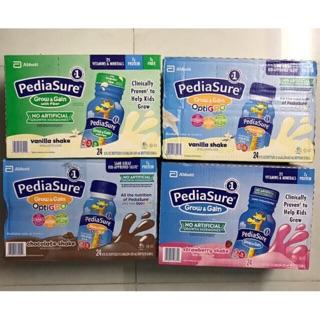 ( Date 2021 )Thùng 24 chai Sữa Pediasure nước vị Vani, Dâu, Fiber xơ, Socola 237ml Mỹ