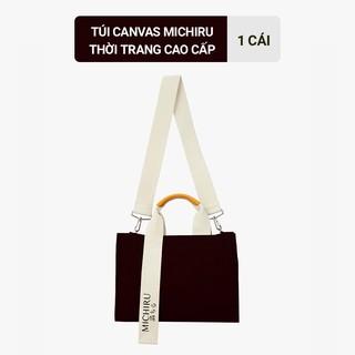 [HB GIFT] Túi Canvas Michiru thời trang cao cấp