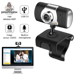 pw 12 Megapixel HD USB2.0 Web Camera With Clip-On Microphone For PC Computer