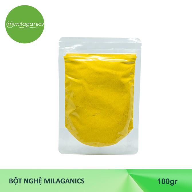 Combo siêu trắng da Milaganics Cám gạo 100g & Yến mạch 100g & Đậu đỏ 100g & Bột nghệ 100g & Bột đậu xanh 100g