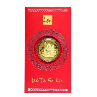 Mặt vàng 24K Kim Hợi phát tài đính kèm Bao lì xì - ANCARAT