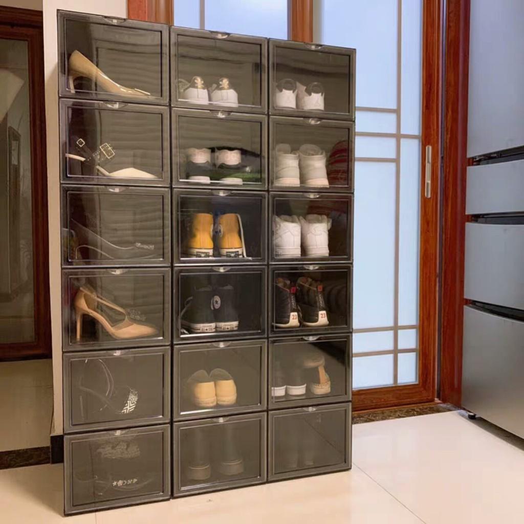 [HÀNG CHÍNH HÃNG] 1 Hộp đựng giày cứng| Cửa Mở Nam Châm cao cấp perfect | GIÁ 1 HỘP