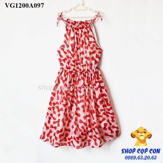 Đầm voan 2 dây bé gái, nhiều hoa văn (26-40kg)