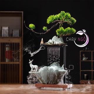 Thác nước tạo khói phong thủy Lộc Sơn Thủy