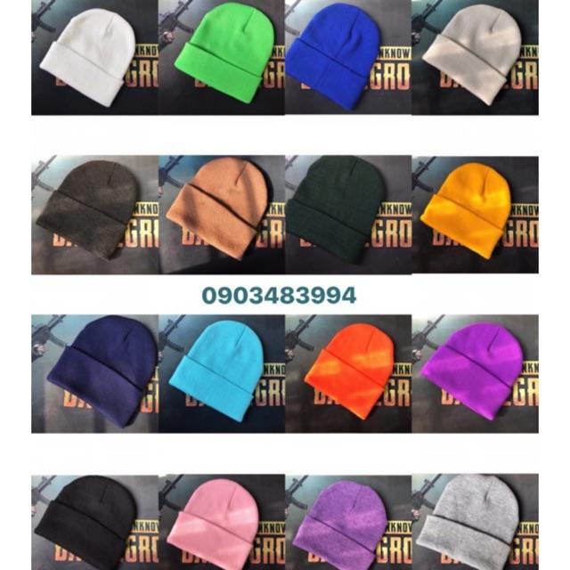 Mũ Len Hàn Quốc  Beanie Nhiều Màu ( Sỉ Tận Gốc )