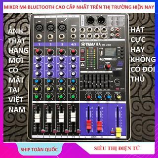 Mixer Yamaha, M4 USB Bluetooth, Siêu Phẩm Bộ Chuyên Hát Livestream Karaoke Hay - Tặng Giắc 6,5 thumbnail