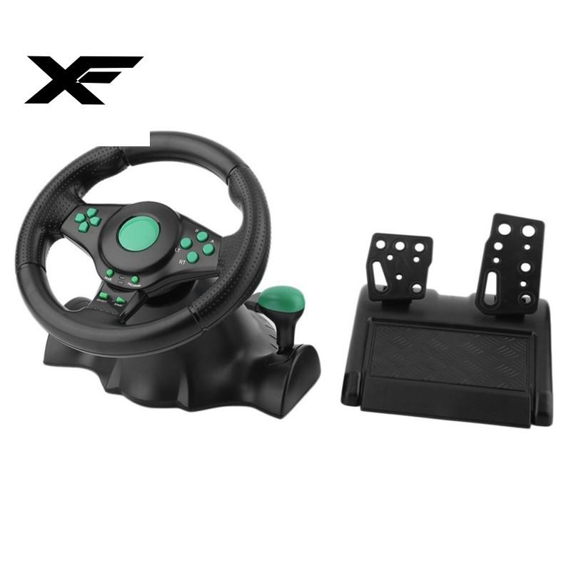 Vô lăng lái xe chơi game kết nối USB cho máy Xbox 360 Ps2