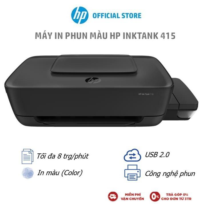 [Mã ELHPAUG giảm 7% max 800K] Máy in màu HP Ink Tank Wireless 415 All-in-One (In, scan, copy)_Z4B53A