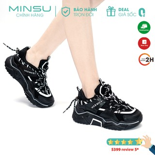Giày Thể Thao Phản Quang MINSU CENICE M3801, Giày Sneaker Nữ Phản Quang Hot Nhất 2020 Thiết Kế Độc Đáo Cực Chất Ngầu