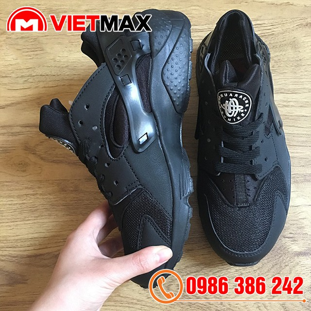 [Kèm Box] Giày Nike Huarache Đen Full Cổ Thấp
