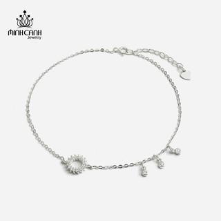 [Mã MCJ20 giảm 20K đơn từ 199K] Lắc Chân Bạc Vòng Tròn Đính Đá Treo Bi - Minh Canh Jewelry thumbnail