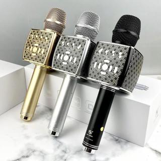 Mic karaoke YS95 cao cấp - Micro Bluetooth YS-95 tích hợp loa bass không dây
