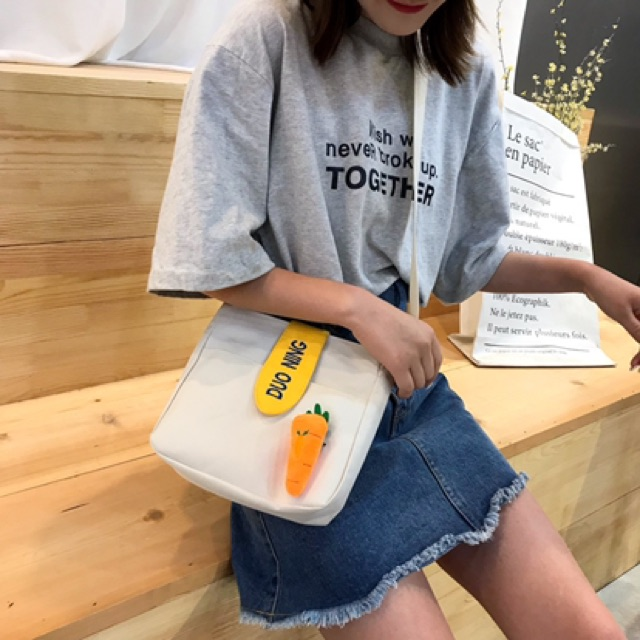 Túi xách tote vải đeo chéo nữ 2020 DUONING TV14