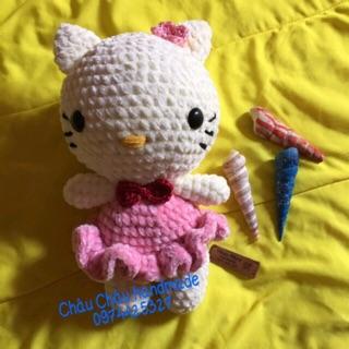 Mèo Kitty handmade từ len
