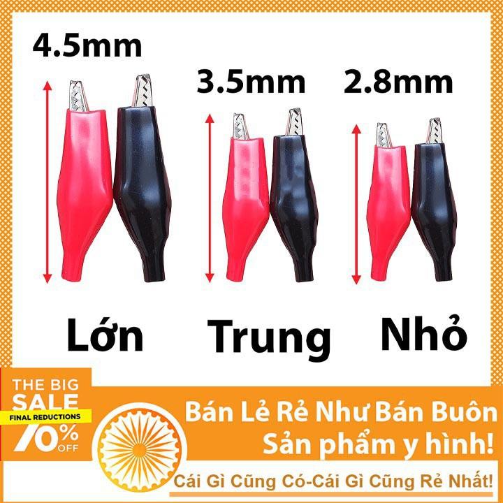 Bộ 10 Kẹp Cá Sấu Bền Chắc 4.5cm (5 Đỏ - 5 Đen) - NTHN