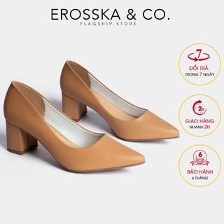 Giày cao gót Erosska thời trang mu i nho n kiê u da ng cơ ba n cao 5cm ma u bo _ EP011 thumbnail